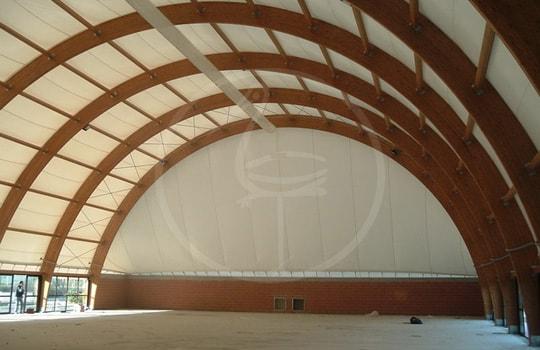 Archi legno lamellare con membrana
