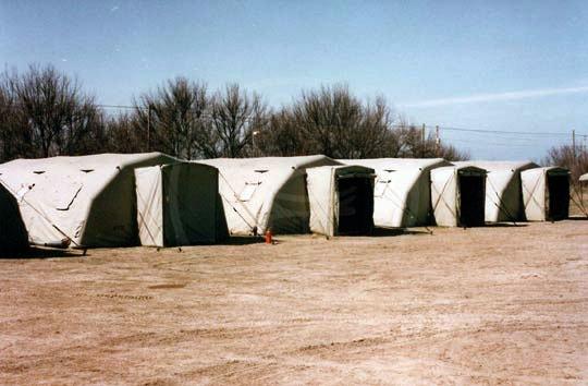 Modulzeltlager mit Eingangsbereich, 5,25 x 7,55