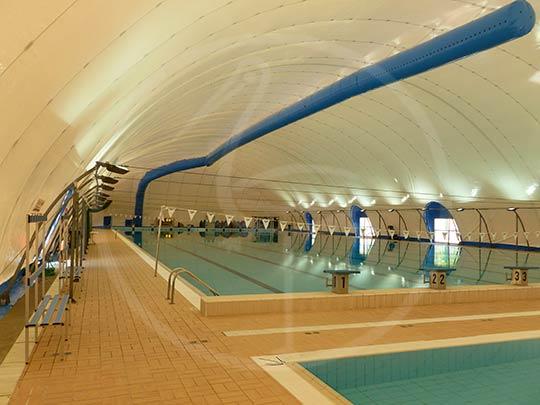Copertura piscina doppia membrana separata