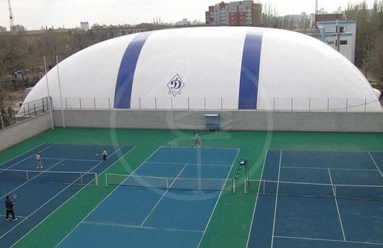 Copertura pressostatica 3 campi da tennis