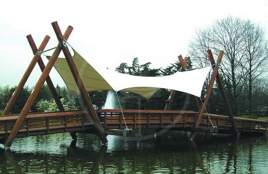 Copertura tessile ponte pedonale