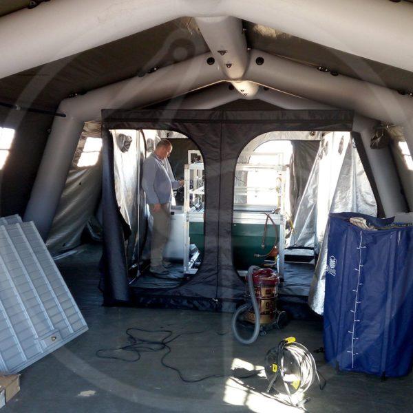 Missione Oman interno tenda pneumatica