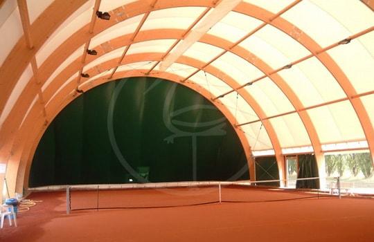 Structure tendue portée arcs en bois - Bologna ( Italy )