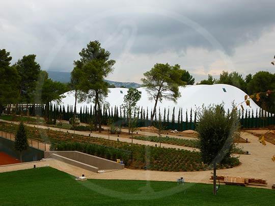 Tenso-structure 2 terrains de tennis