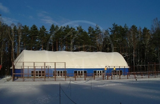 Double membrane steel tent structure - Russia