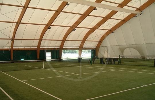 Tendostruttura legno 2 campi tennis