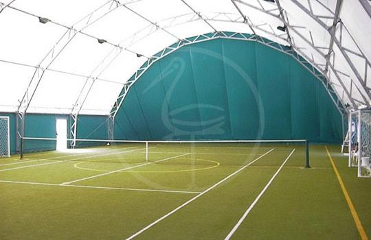 Multi-purpose sport area steel tensile structure