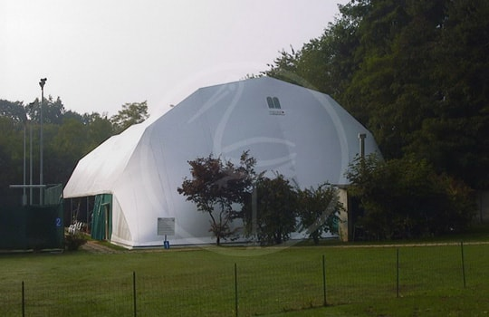 Tensostruttura acciaio campo tennis