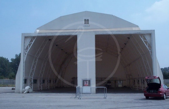 Industrial door steel tent structure