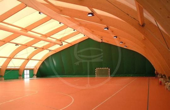 Tensostruttura legno campo polivalente