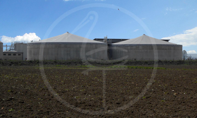 Couverture pour biogaz