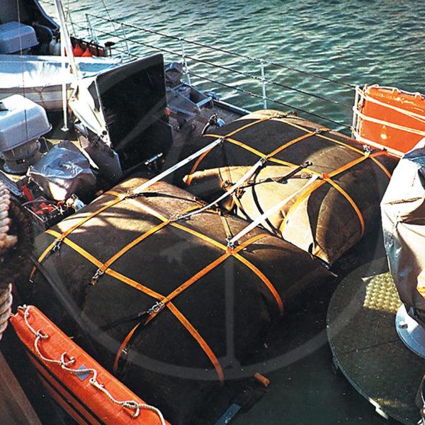 cisterna flessibile da 5000 lt su ponte nave