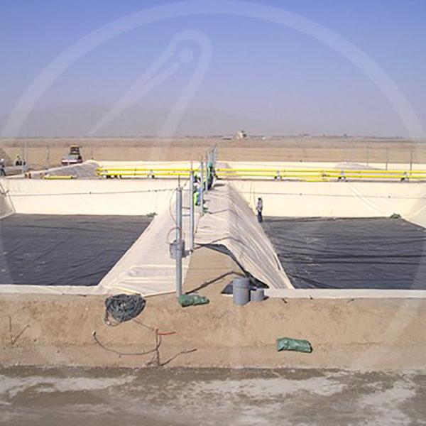 Geomembran für Auffangbecken, 30 x 25 m