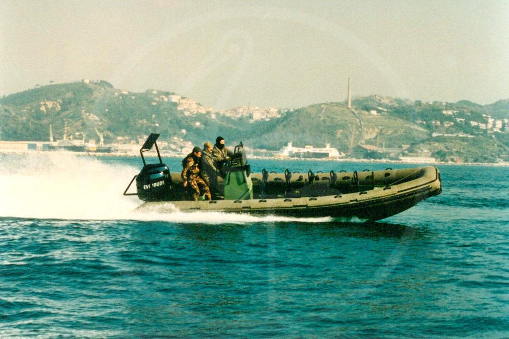 Halbstarres Boot, 7,50 m – Spezialeinheit der italienischen Marine