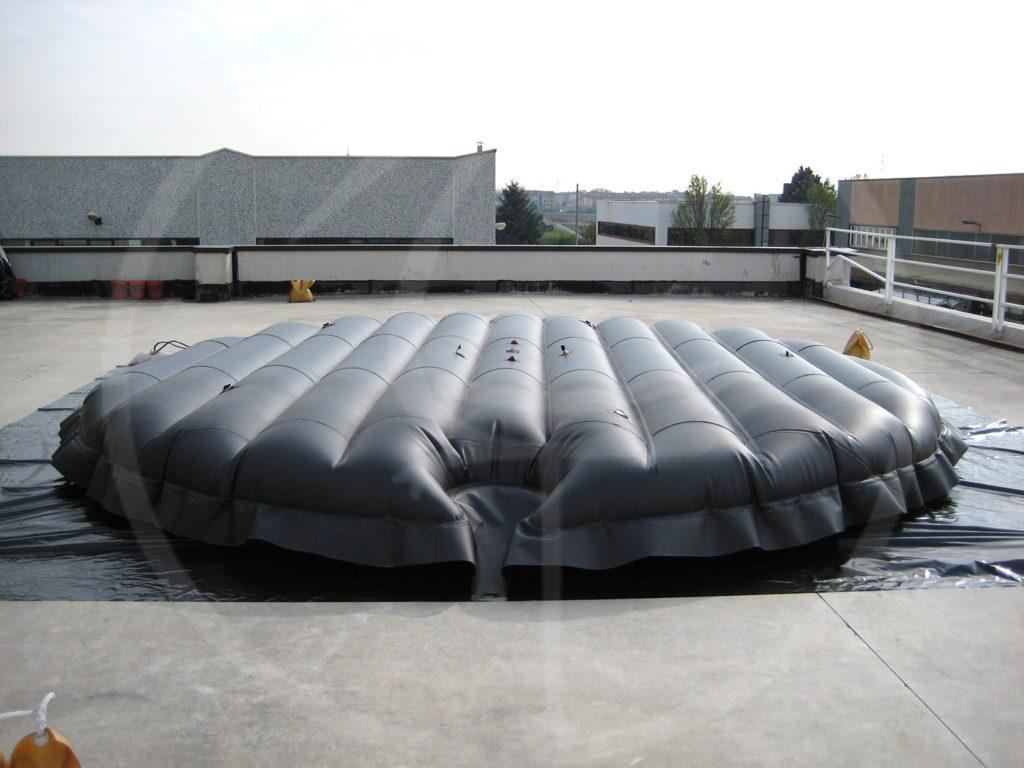 Materasso flottante per silos
