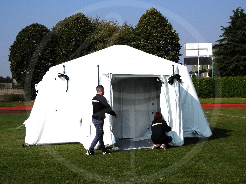 montage des tentes pneumatiques autoportées