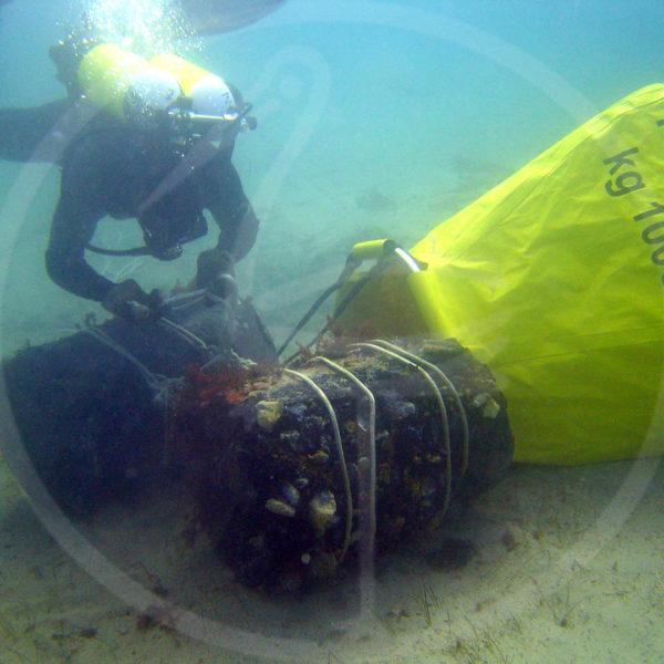 ballon parachute de levage
