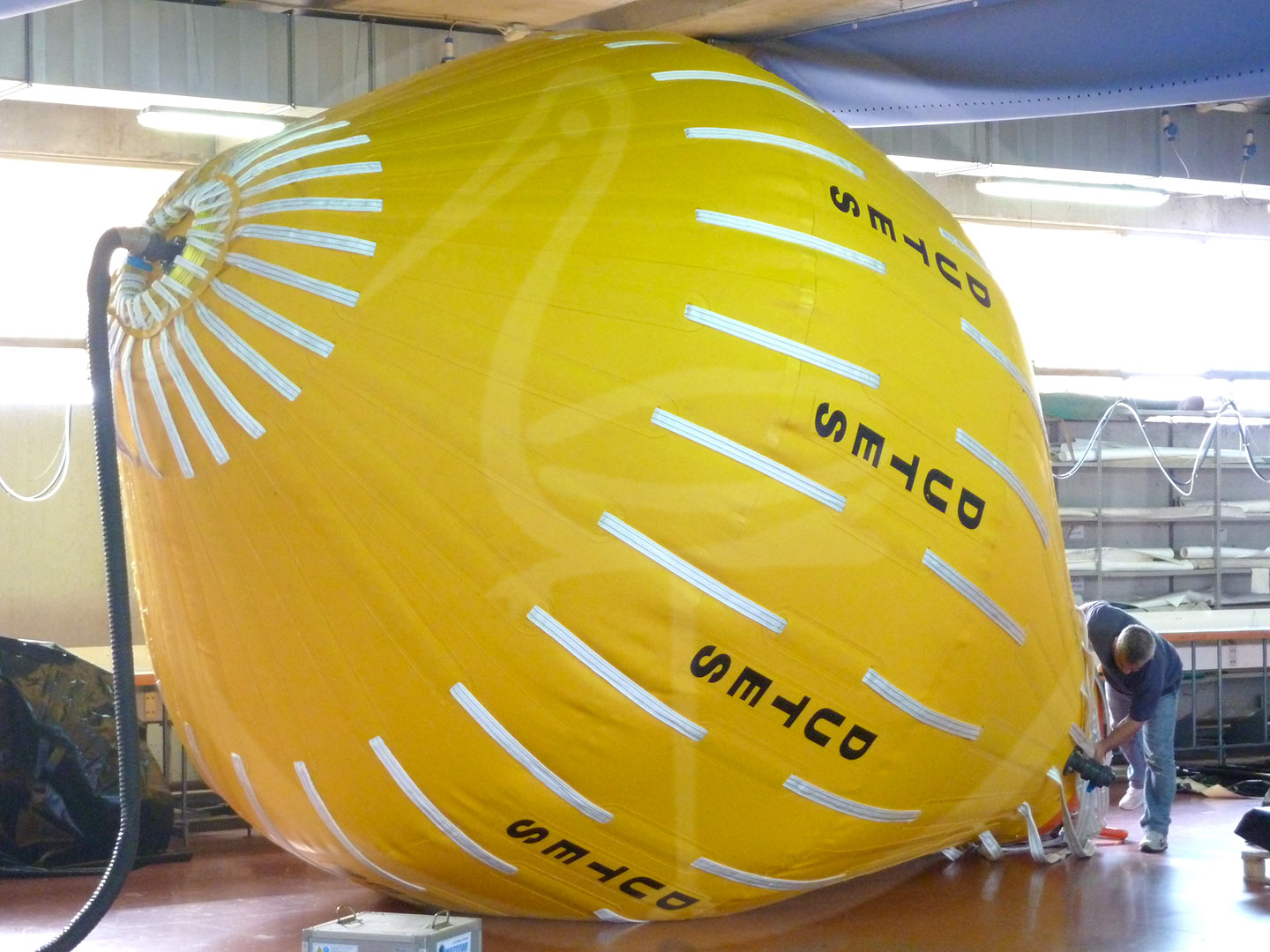pressure test of 30 ton recovery balloon