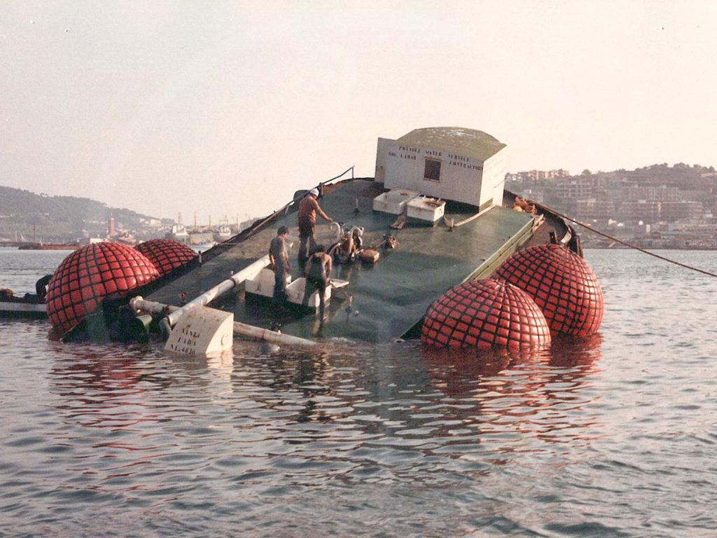 ballons de levage pour récupération de navires