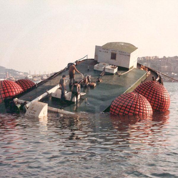 Hebesäcke für Bergung von Schiffen