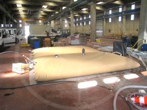 Flexibler Tank für Trinkwasser, 7.500 l