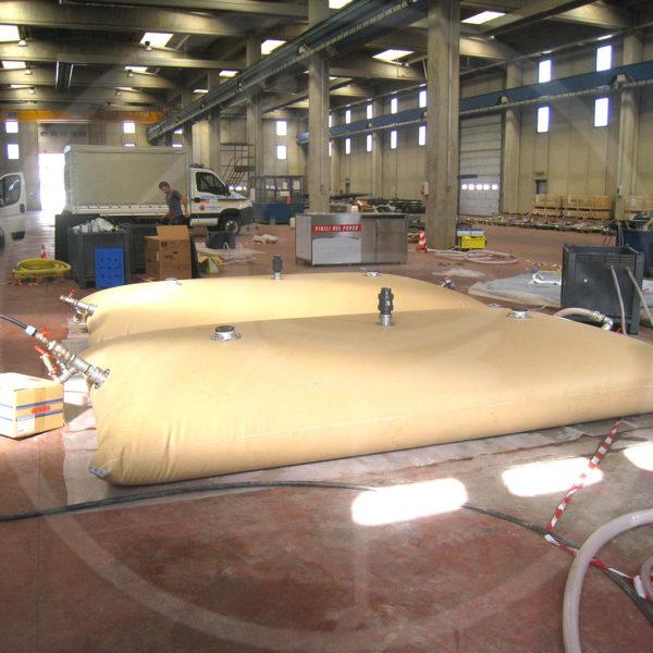 réservoirs souples de 7500 litres pour eau potable