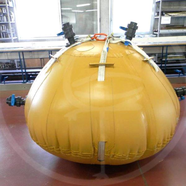 Flexibler Tank, 2.500 l, geeignet für Helikoptertransport