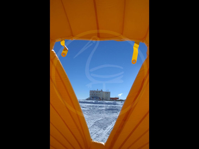 tente gonflable autoportée station italo-française Concordia Antarctide