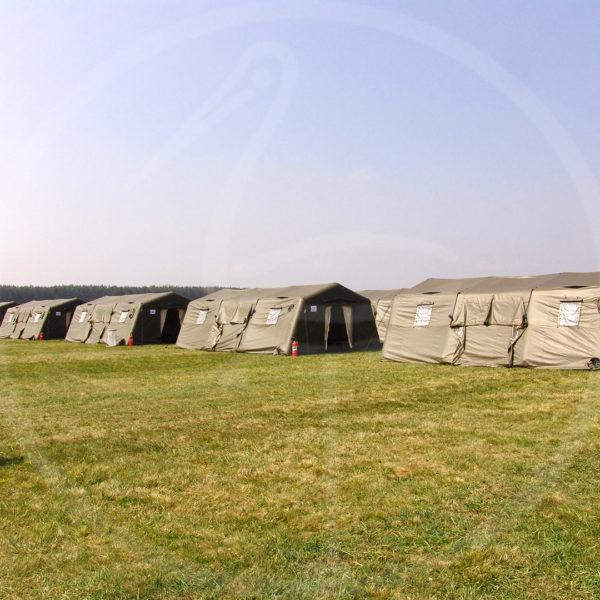 tentes gonflables pour terrain militaire