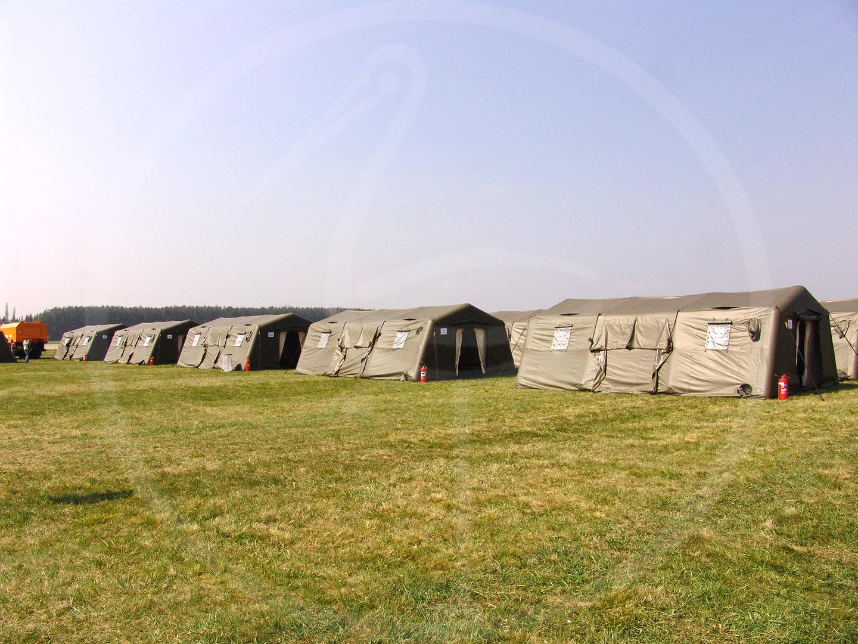 надувные палатки для военных лагерей