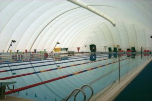 copertura pressostatica per piscina