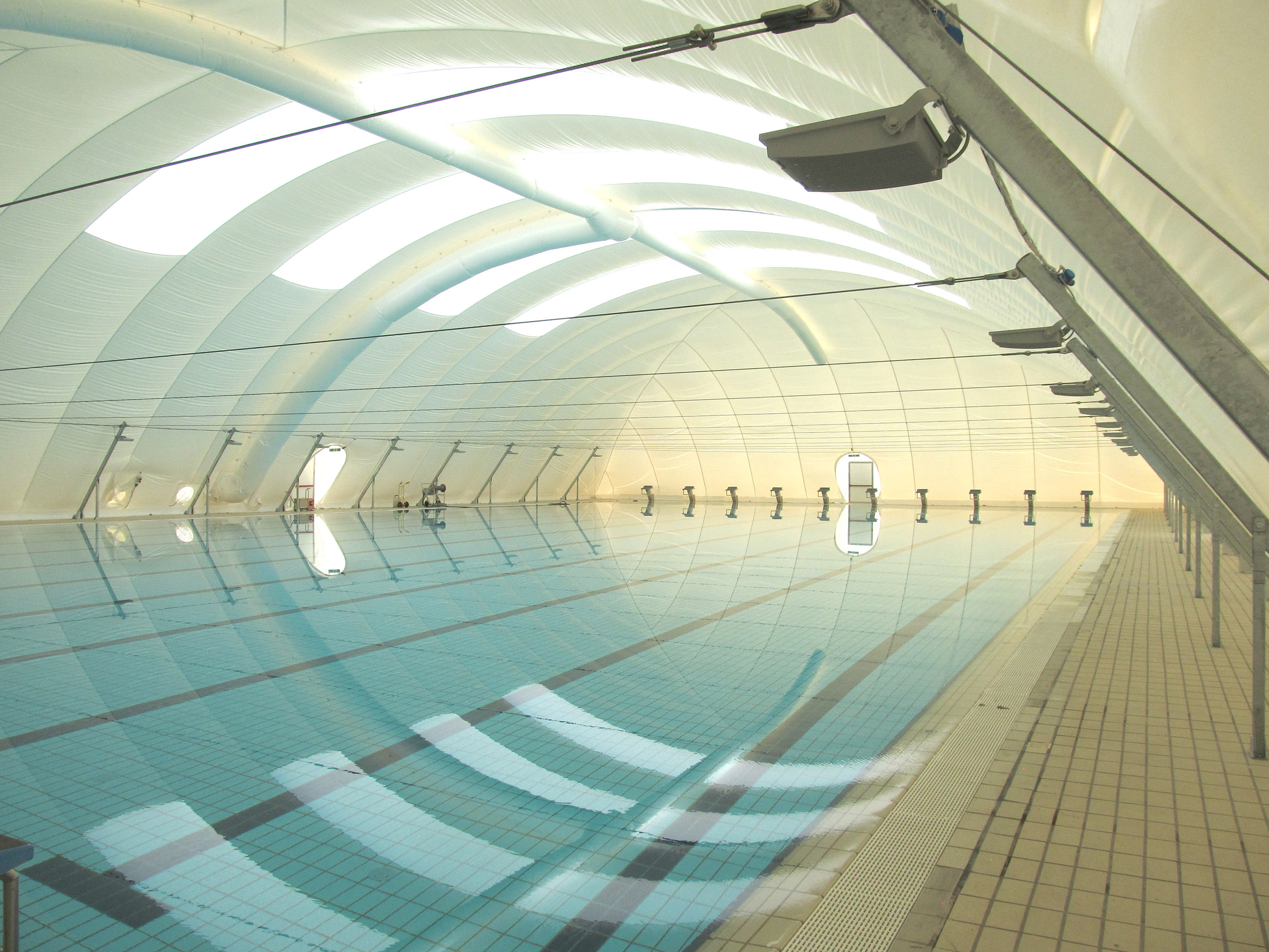 copertura in poliestere pvc per piscina