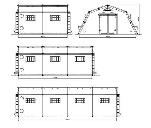 tenda a struttura metallica