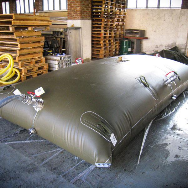collaudo statico cisterna da 5000 lt per E.I.